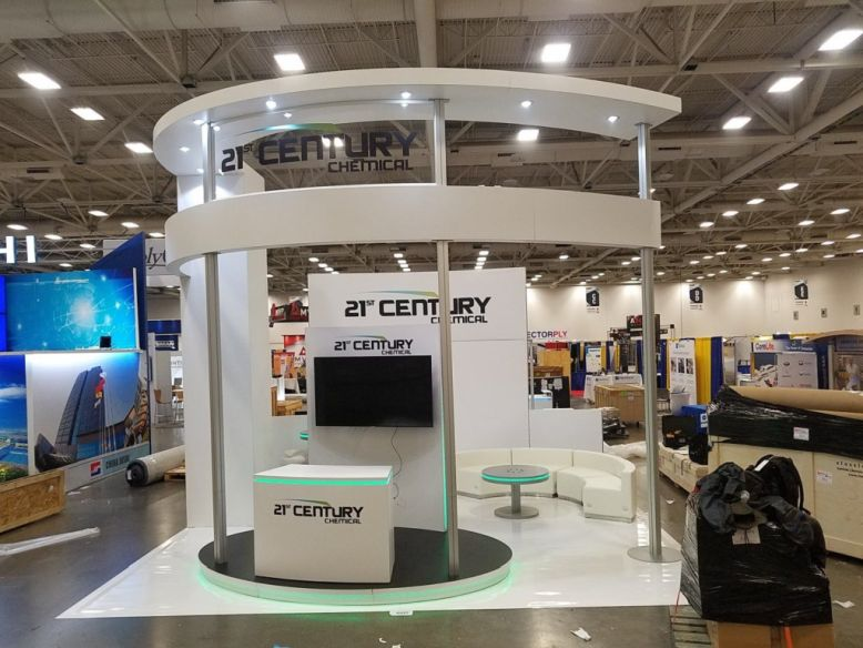 21st Century Chemical trade show booth