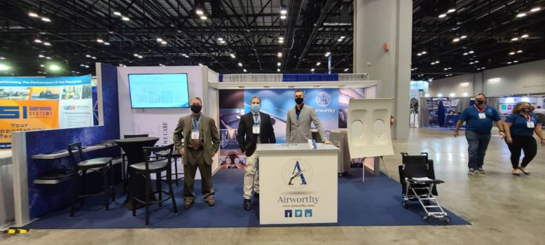Airworthy trade show booth