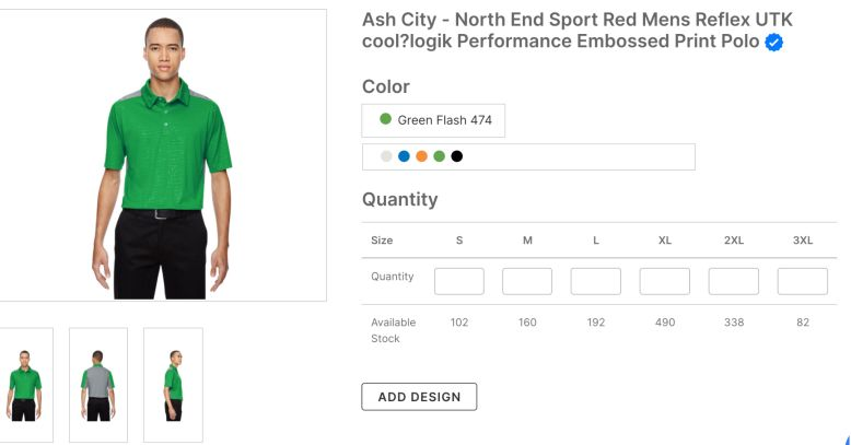 Ash City - North End Sport Res Mens Reflex UTK Performance Embossed Print Polo