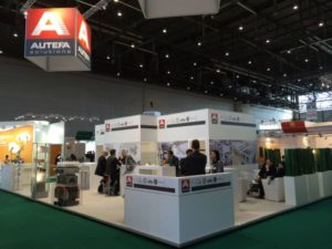 Autefa Solutions trade show booth