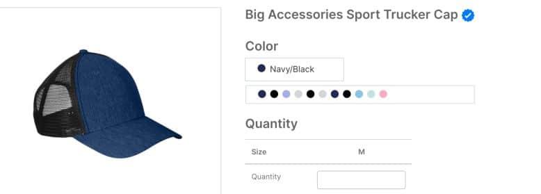 Big Accessories Sport Trucker Cap