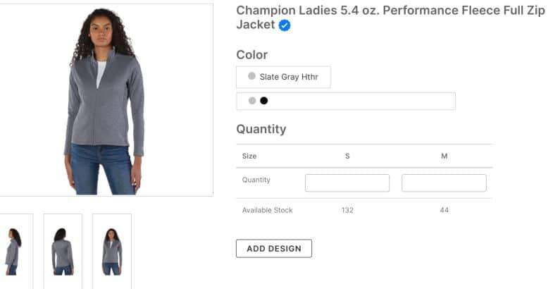 Champion Ladies 5 4 oz Performance Fleece Full Zip Jacket