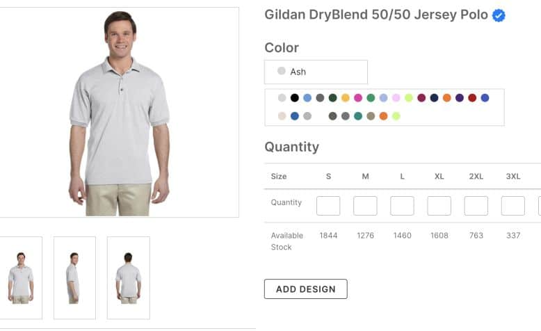 Gildan DryBlend 50 50 Jersey Polo