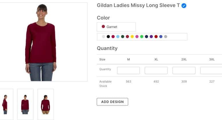 Gildan Ladies Missy Long Sleeve T