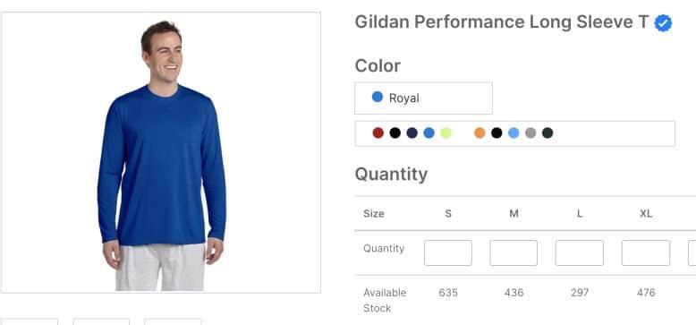 Gildan Performance Long Sleeve T