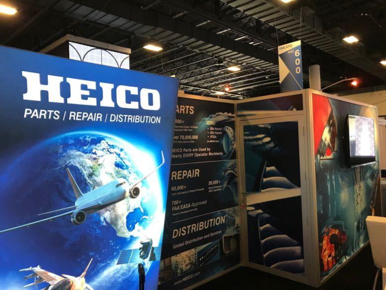 Heico trade show booth