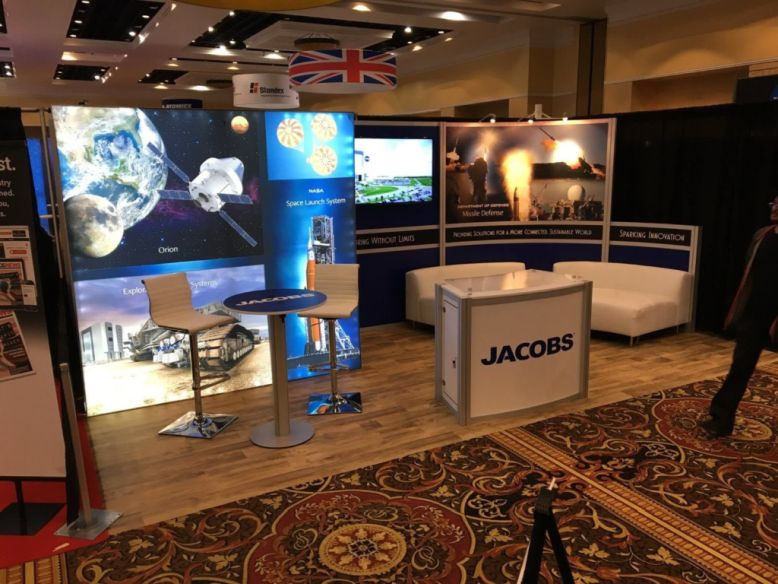 Jacobs trade show booth