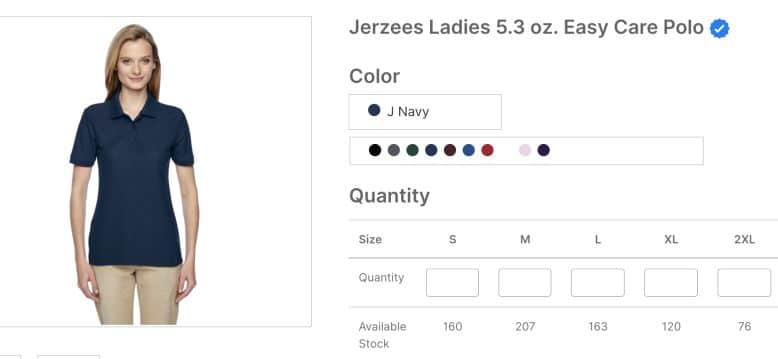 Jerzees Ladies 5 3 oz Easy Care Polo