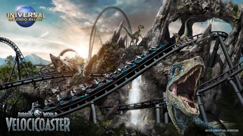 Official concept art for Jurassic World VelociCoaster Photo Universal Orlando
