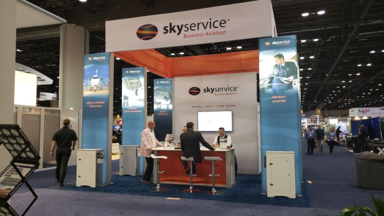 Skyservice trade show booth