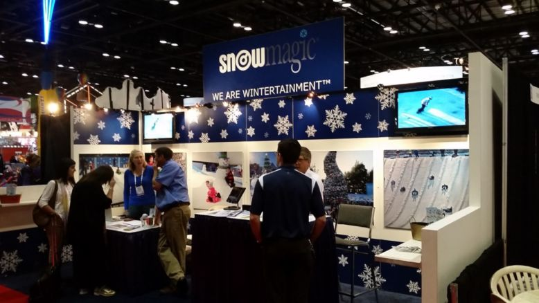 Snow Magic trade show booth
