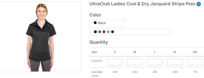 UltraClub Ladies Cool & Dry Jacquard Stripe Polo