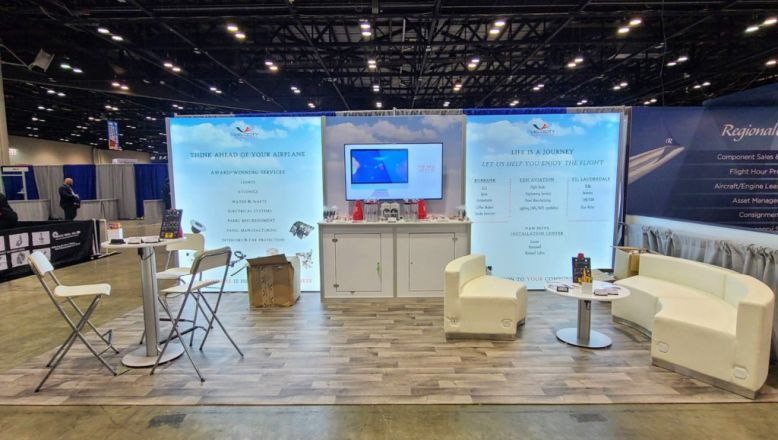 Velocity trade show booth