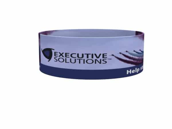 product overhead hanging trade show signs