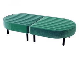 CESS-071 Emerald Velvet Oval Ottoman