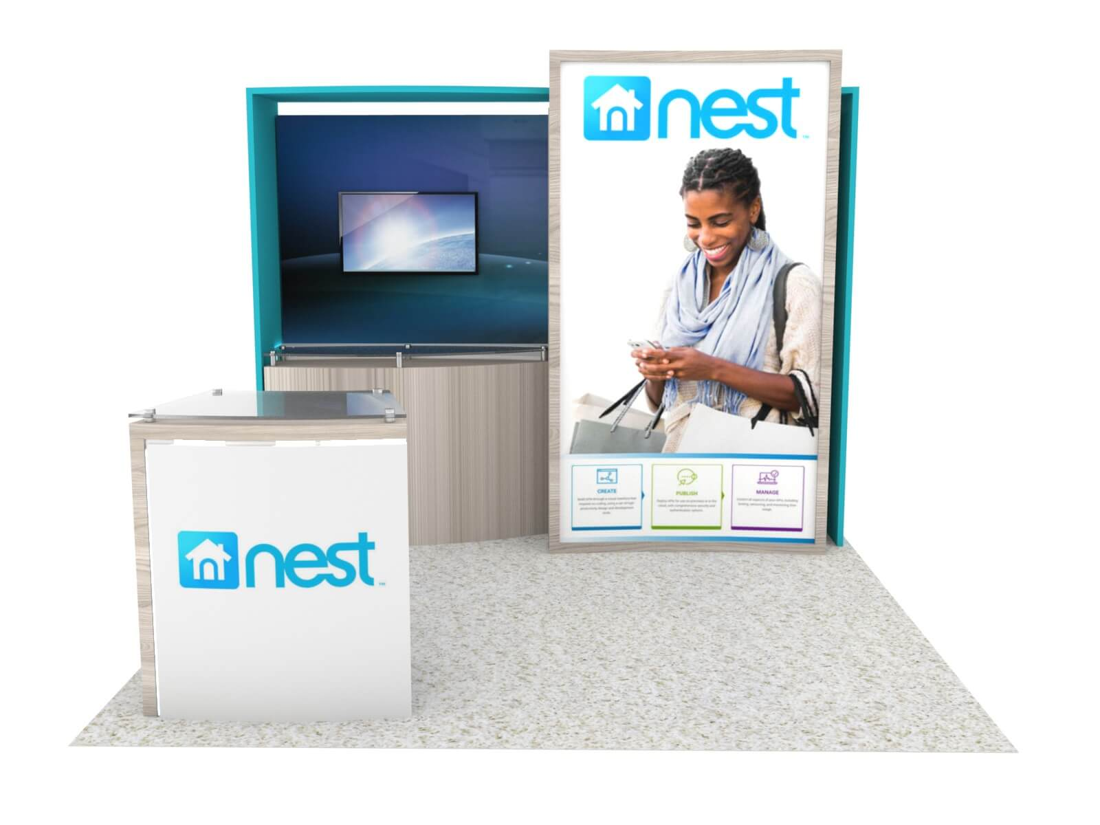 ECO-1124 Sustainable Trade Show Display - image 2