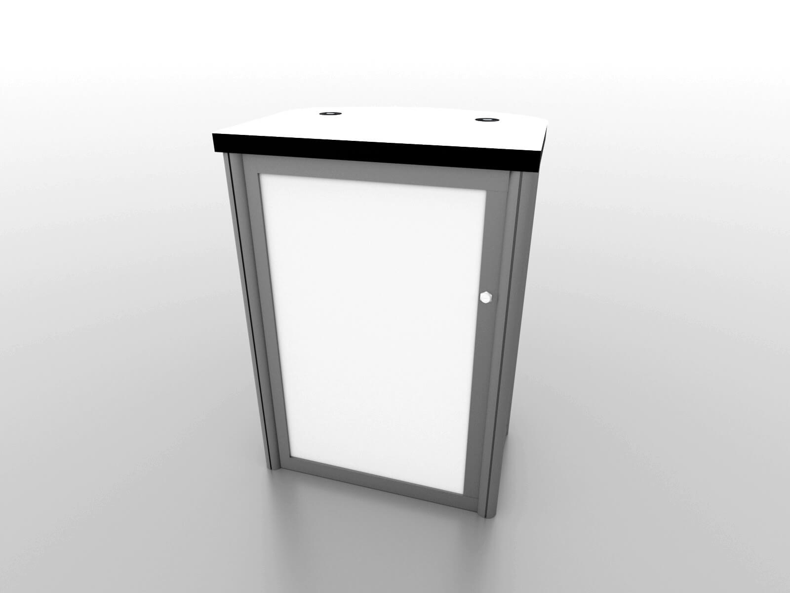 MOD 1267c Modular Pedestal with Locking Storage and Charging Ports image 3