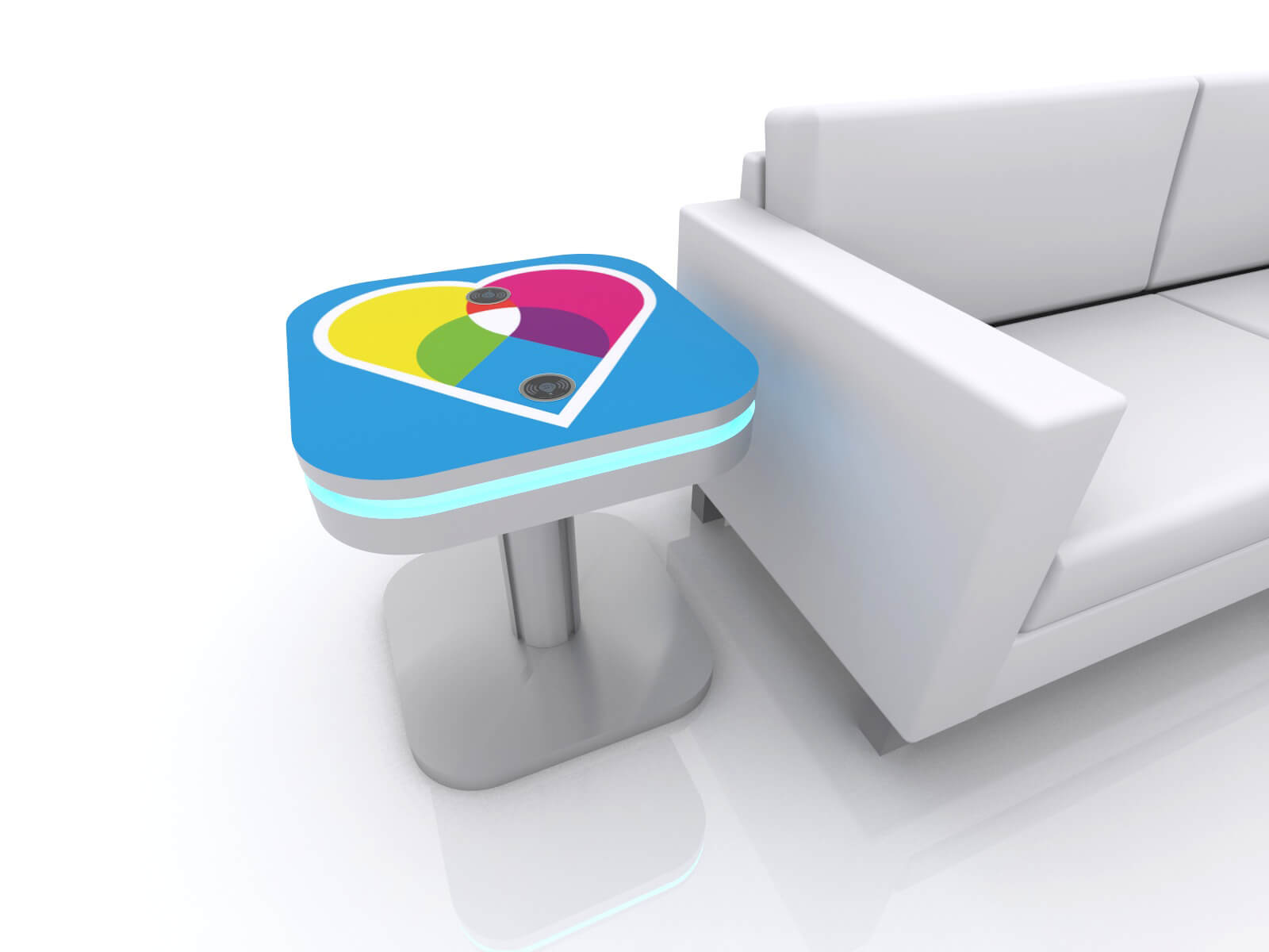 MOD-1461 Wireless Charging End Table