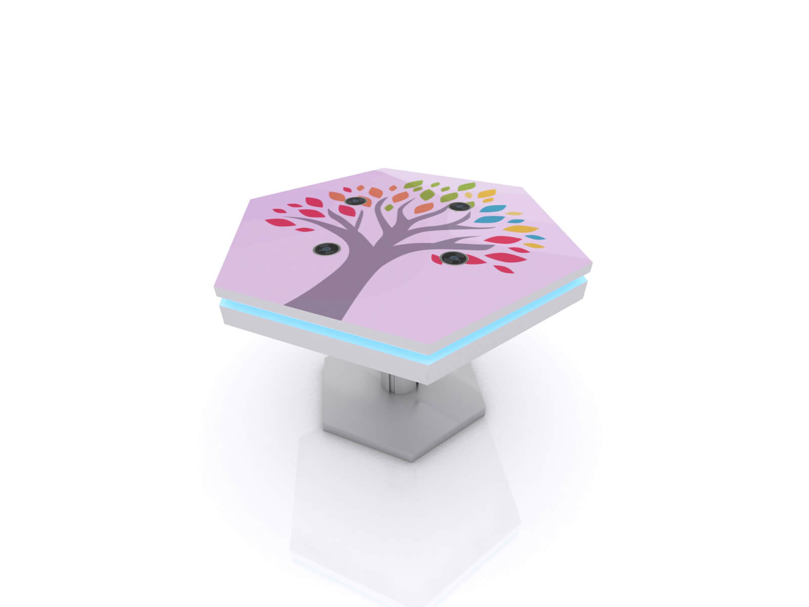 MOD-1464 Trade Show and Event Wireless Charging Coffee Table - image 1