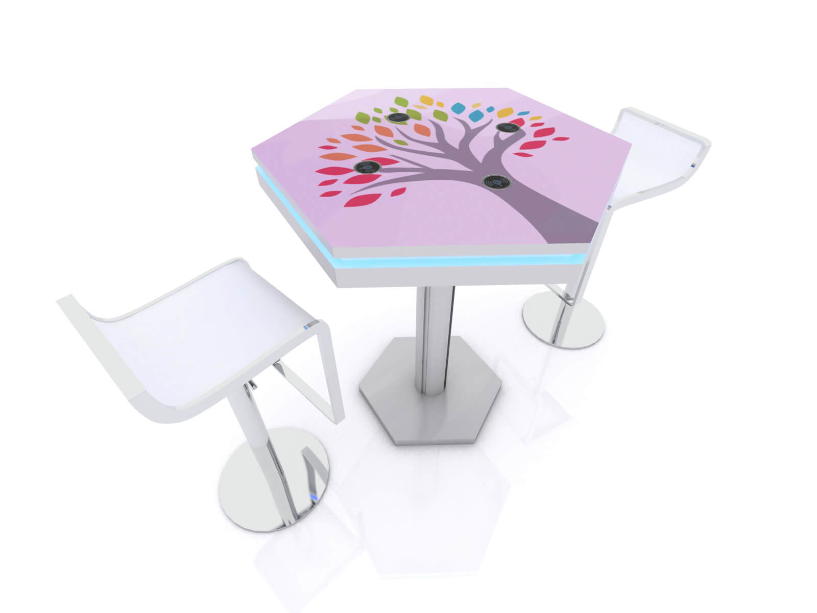 MOD-1465 Wireless Trade Show and Event Charging Bistro Table - image 4