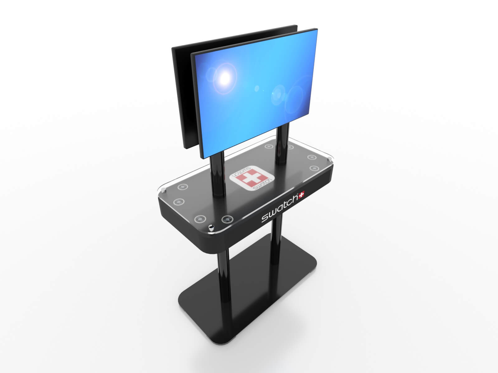 MOD-1477 Trade Show Monitor Stand Charging Station - image 3