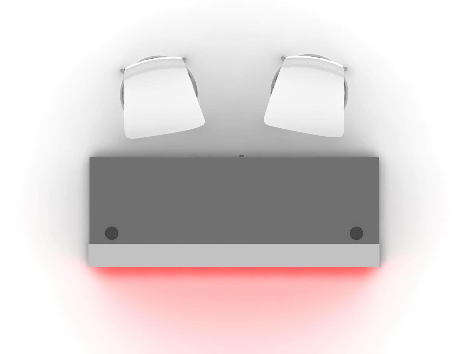 MOD-1595 Custom Backlit Trade Show Reception Counter - Plan View