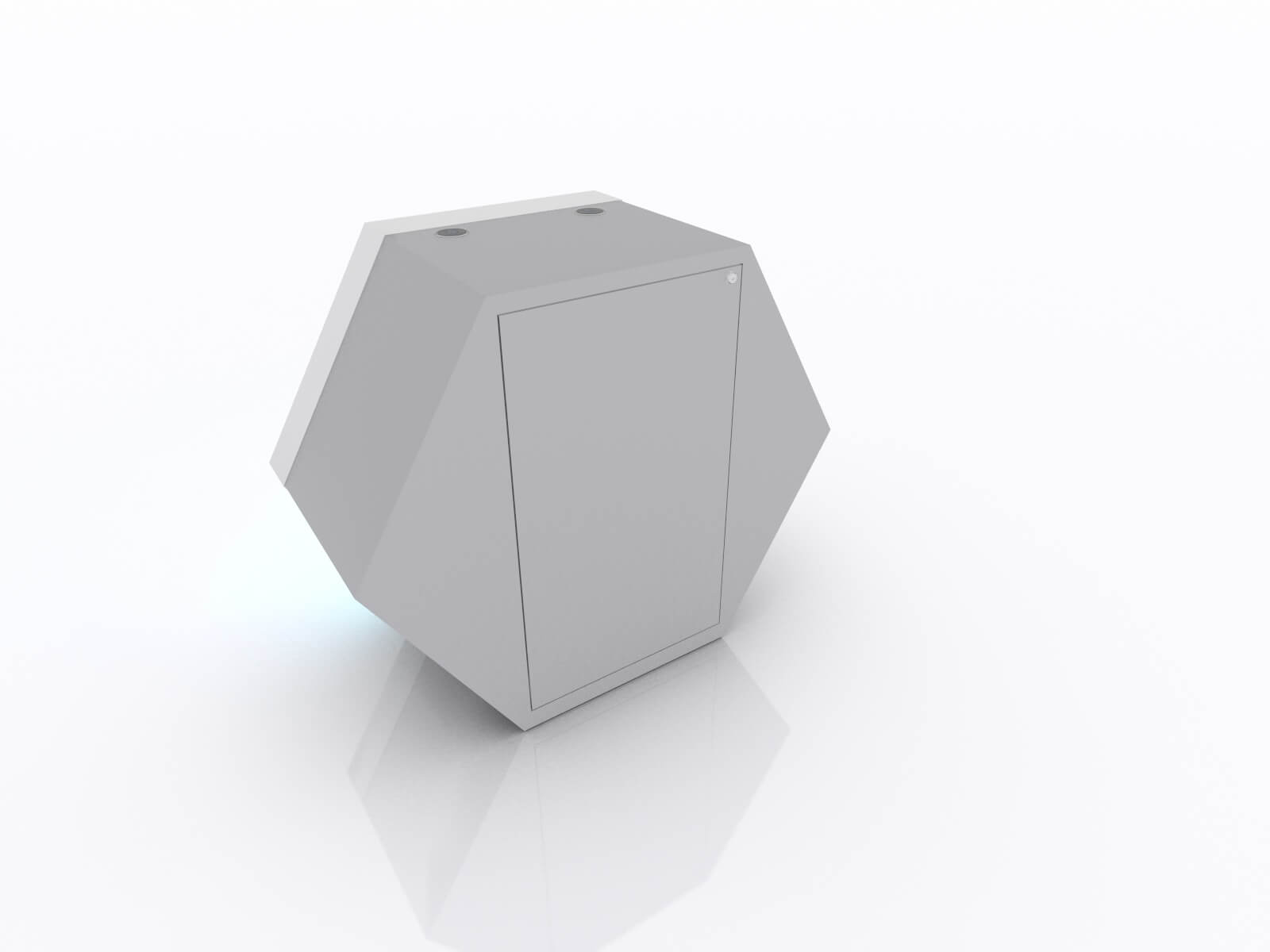 MOD-1598 Custom Backlit Trade Show Reception Counter - image 3