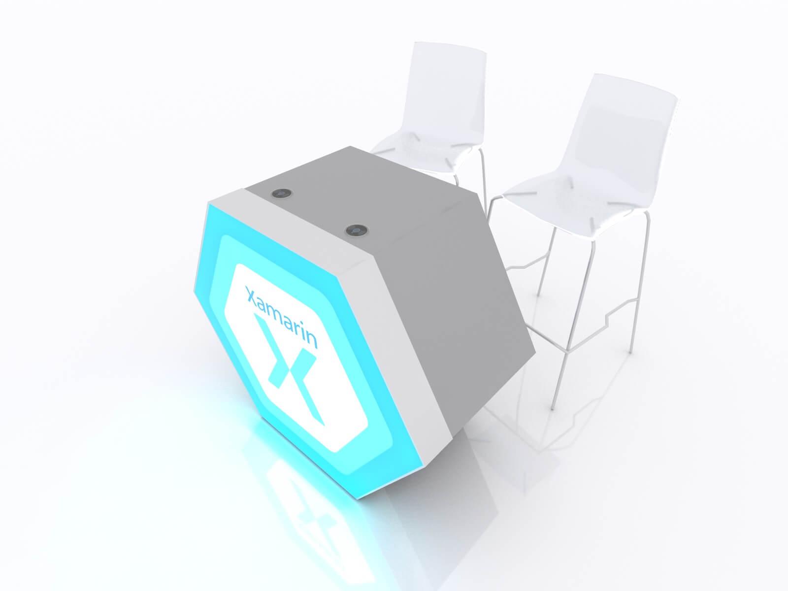 MOD-1598 Custom Backlit Trade Show Reception Counter - image 4
