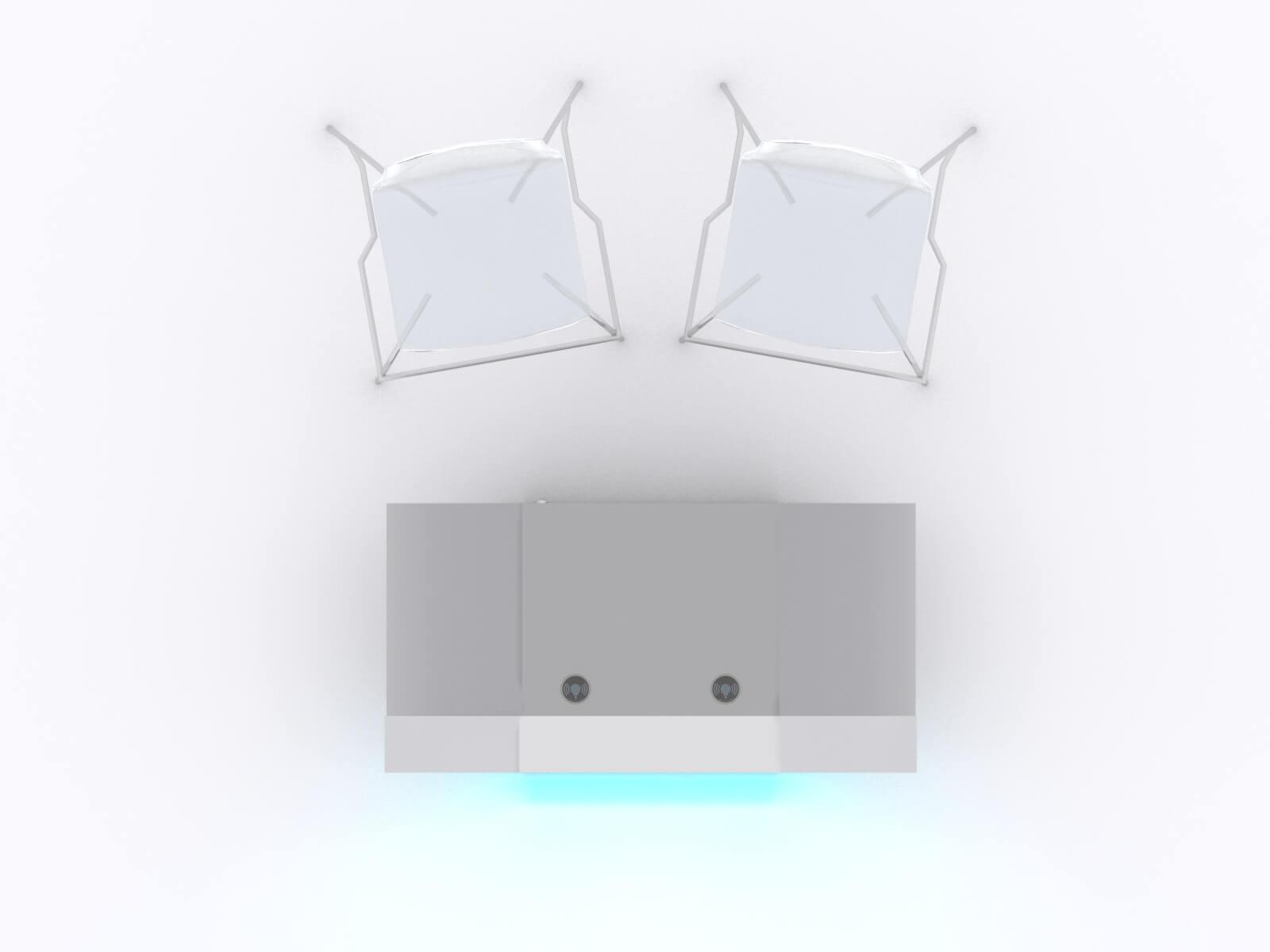 MOD-1598 Custom Backlit Trade Show Reception Counter - image 5