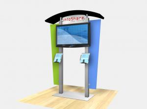 RE 1230 Large Monitor Kiosk with Arch Canopy