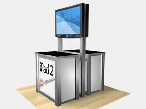 RE 1233 Double Sided Rectangular Counter Kiosk