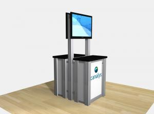RE 1256 Double Sided Counter Kiosk