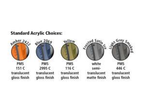 Standard Acrylic Choices