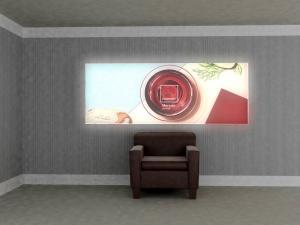 Wall-Mounted Lightbox
