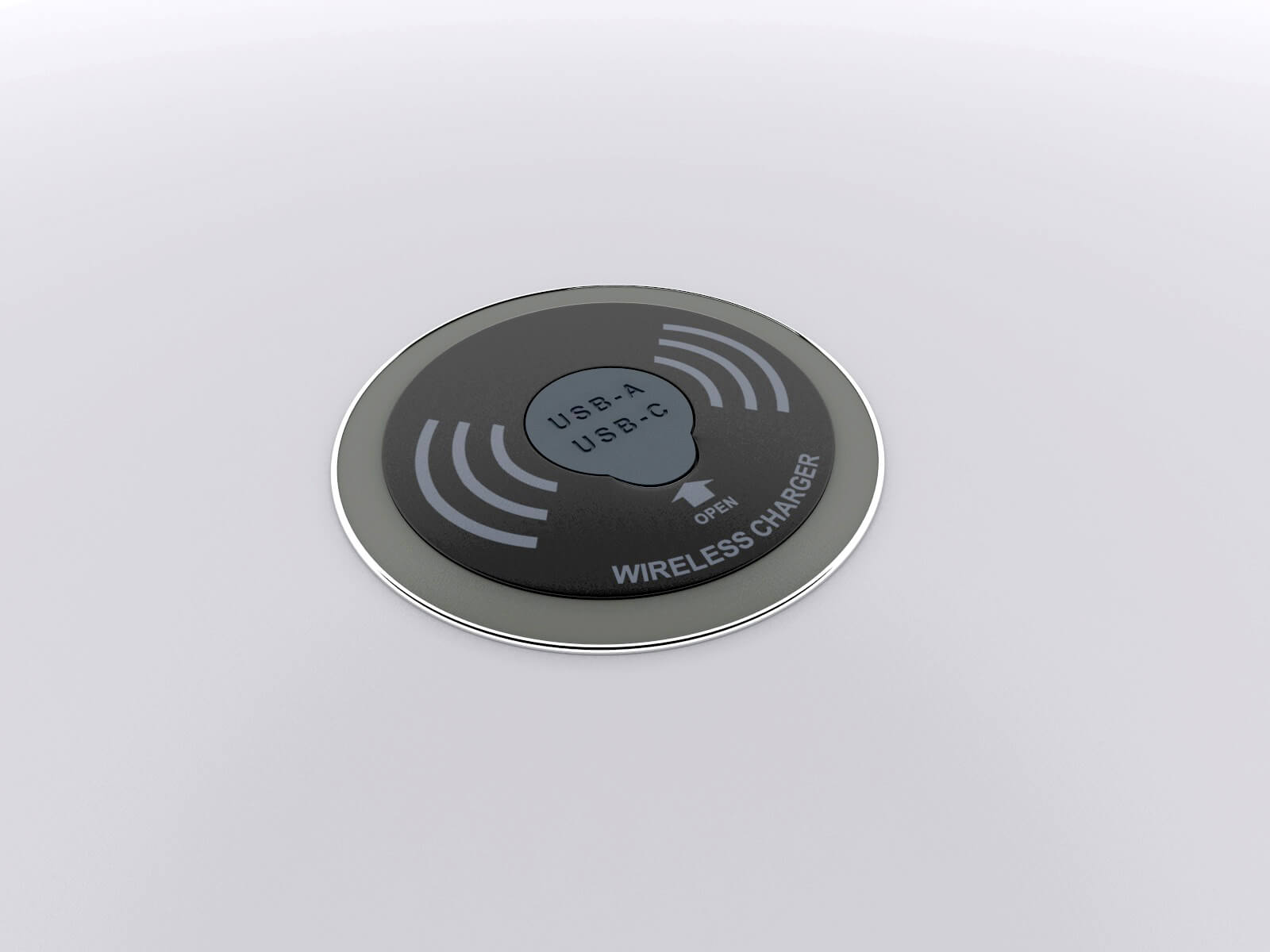 Wireless and Wired Charging Pad - view 1