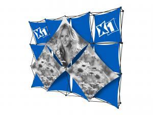 X1 10ft - 4x3 M Fabric Pop-Up Display