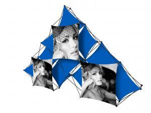 X1 14ft - 10 Quad B Pyramid Fabric Pop-Up Display