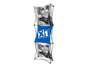 X1 2.5ft 1x3 C Fabric Pop Up Display