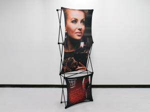 X1 2.5ft 1x3 D Fabric Pop Up Display