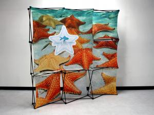 X1 8ft - 3x3 H Fabric Pop-Up Display
