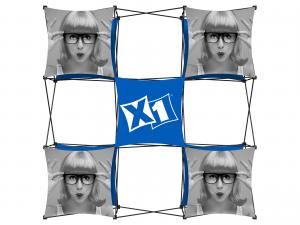 X1 8ft 3x3 J Fabric Pop Up Display