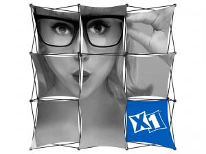 X1 8ft - 3x3 K Fabric Pop-Up Display