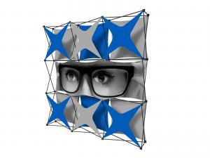 X1 8ft - 3x3 S Fabric Pop-Up Display