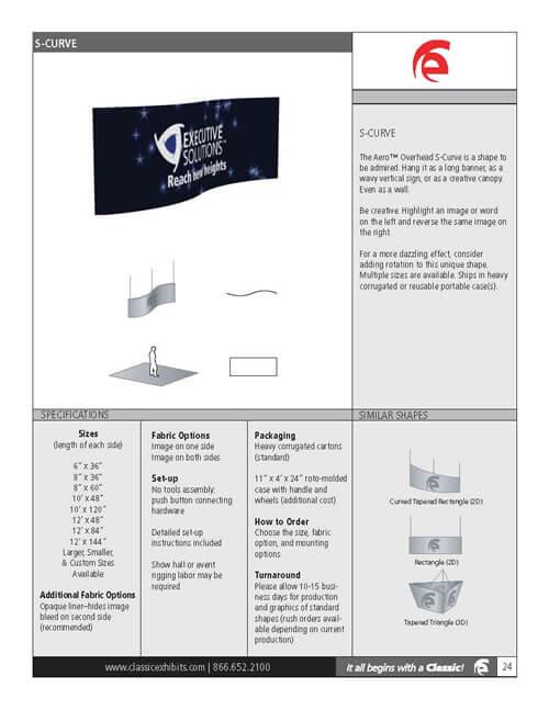 Aero Overhead Hanging Sign 2D S-Curve