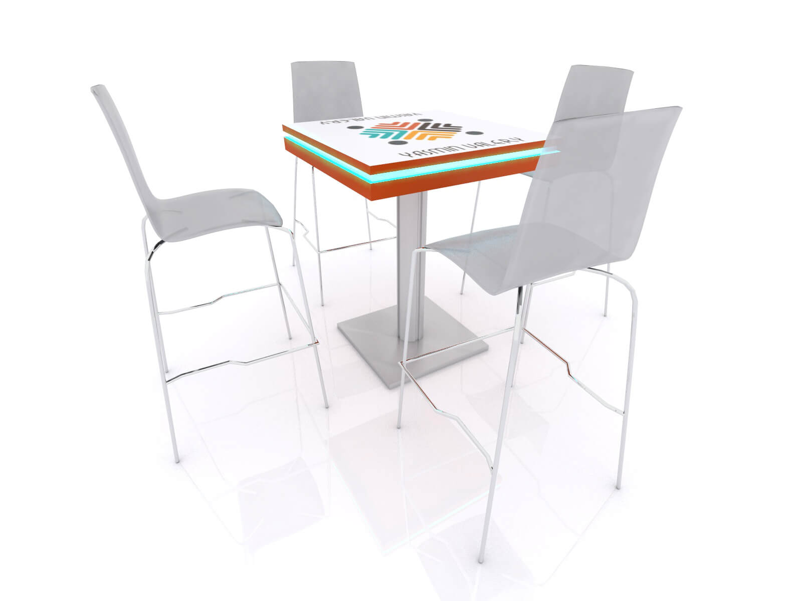 MOD-1454 Wireless Charging Bistro Table - Image 3